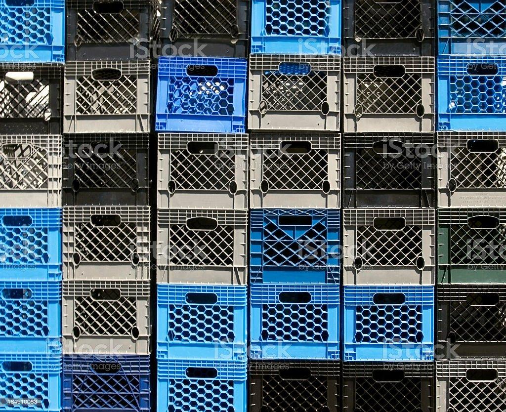 Milk Crates stock photo