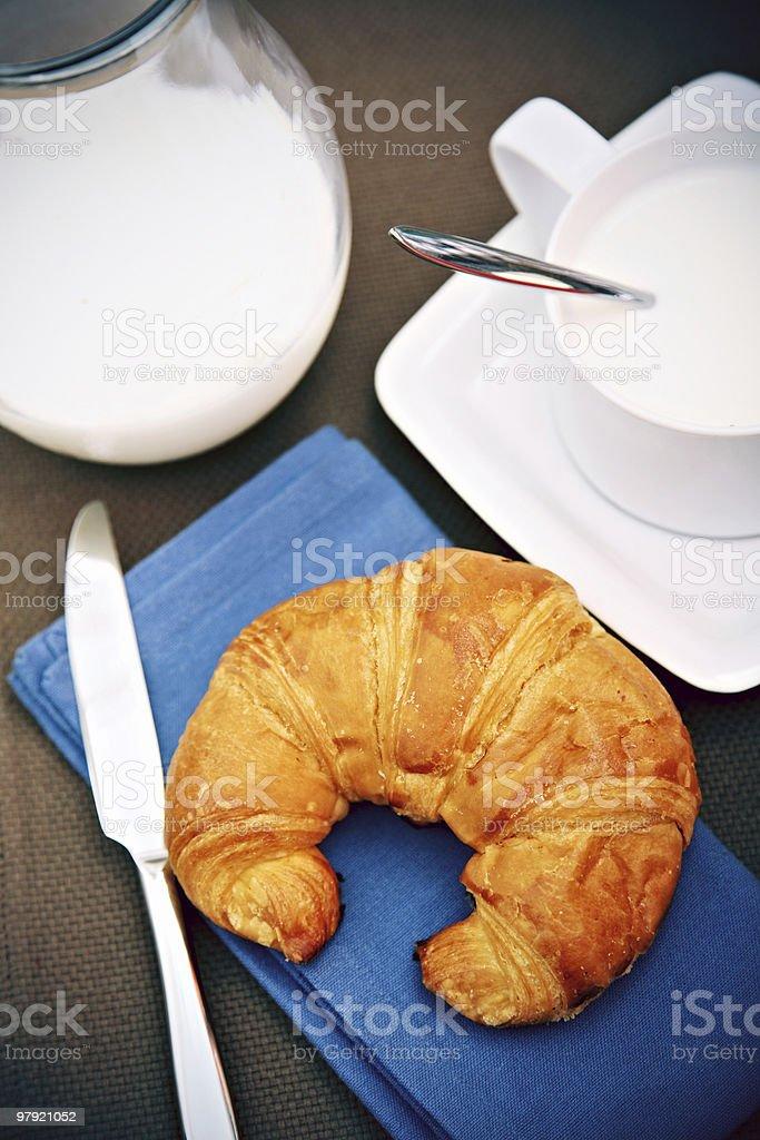 Milk & Croissant royalty-free stock photo