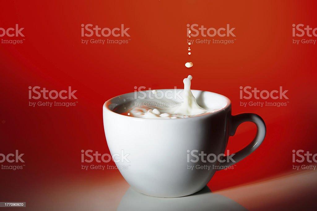 milk drop royalty-free stock photo
