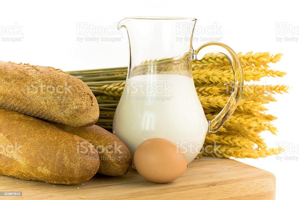 milk, egg, bread royalty-free stock photo