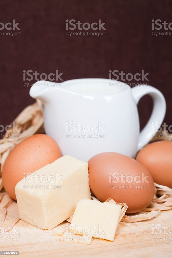 Milk, Eggs and Cheese royalty-free stock photo