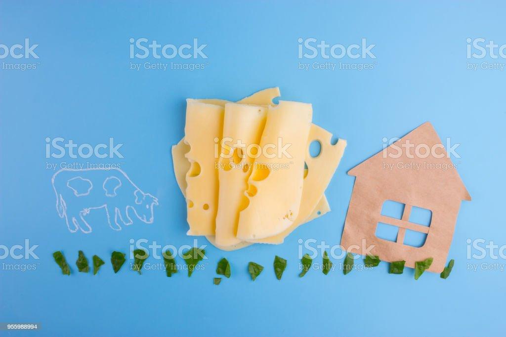 milk farm concept stock photo