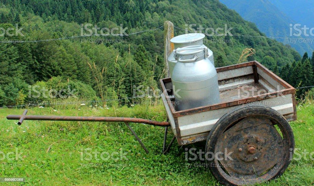 Milk float stock photo