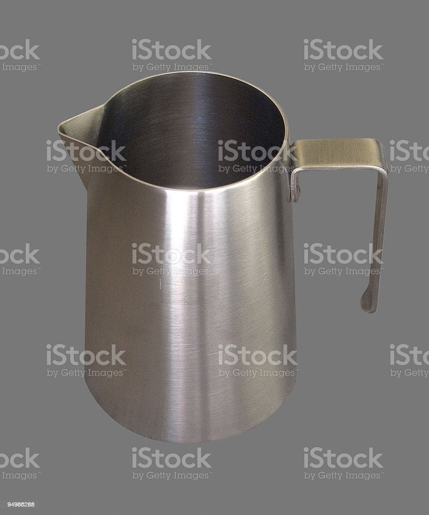 Milk frothing jug royalty-free stock photo