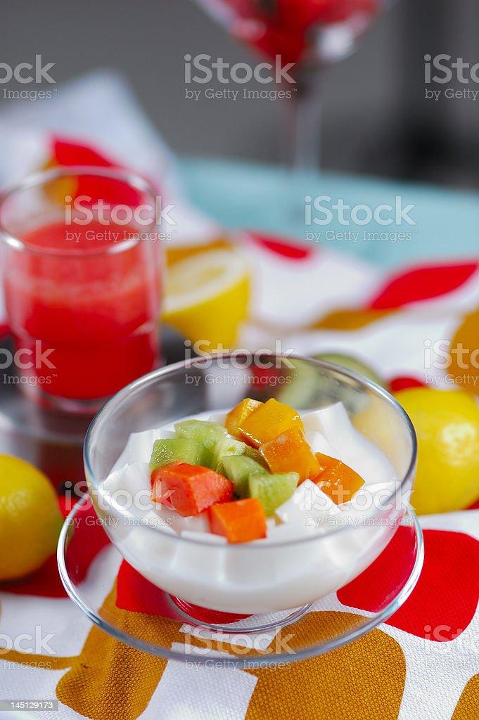 milk fruit blocks royalty-free stock photo
