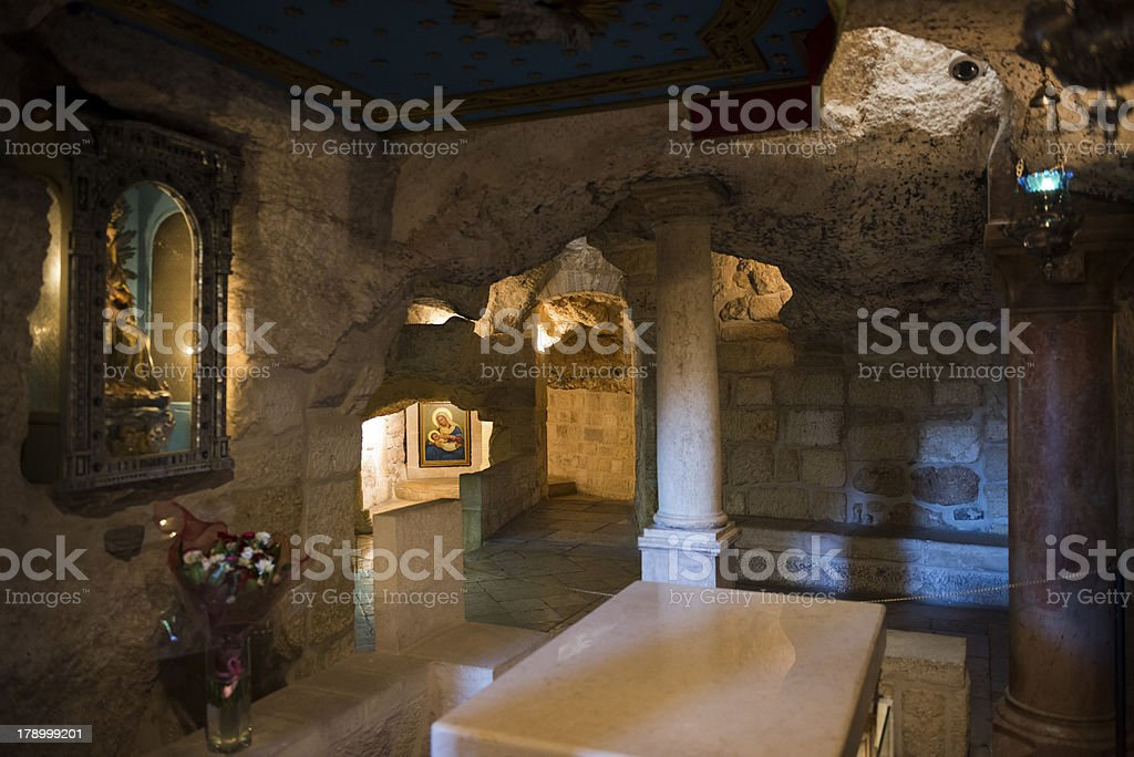 Milk Grotto in Bethlehem, West Bank royalty-free stock photo