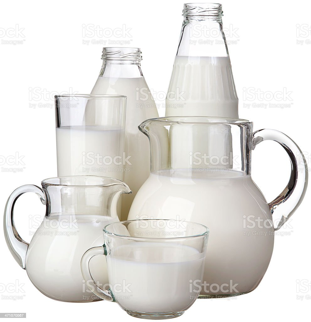 Milk in glass isolated on white background royalty-free stock photo