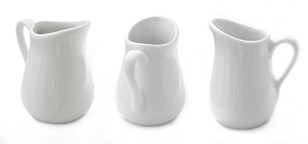 milk jugs stock photo