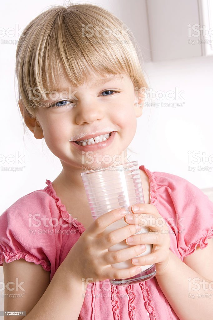 Milk moustache royalty-free stock photo
