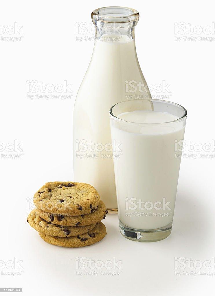 Milch n Cookies Lizenzfreies stock-foto