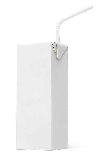 Formule carton de lait ou de jus de fruits et en paille - Photo