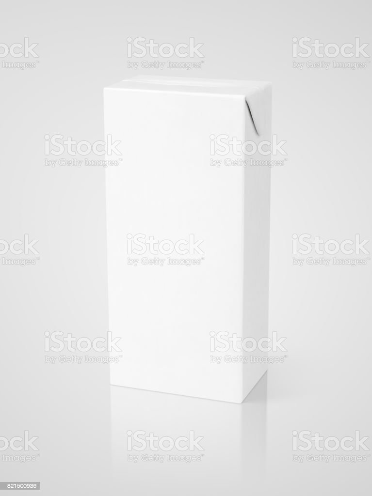 Embalagem cartonada de leite, suco ou pacote - foto de acervo