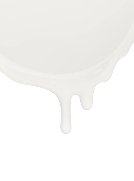 ミルクまたはその他の乳製品な白背景 ストックフォト