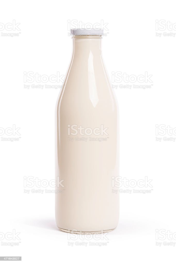 milk (clipping path) royalty-free stock photo