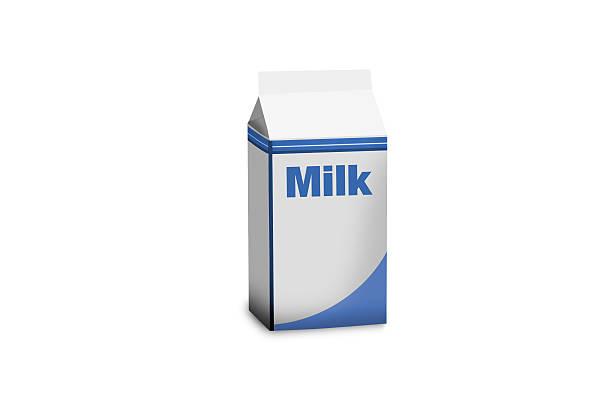 Poche de lait isolé sur blanc - Photo
