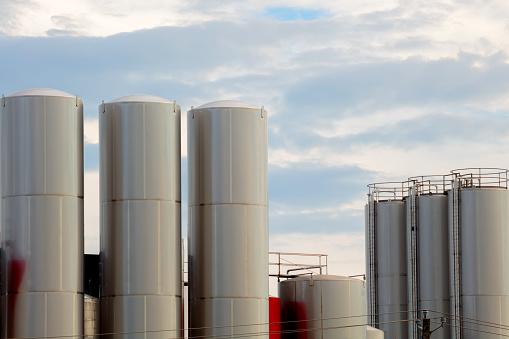 industrial milk storage tank food factory stainless steel silo