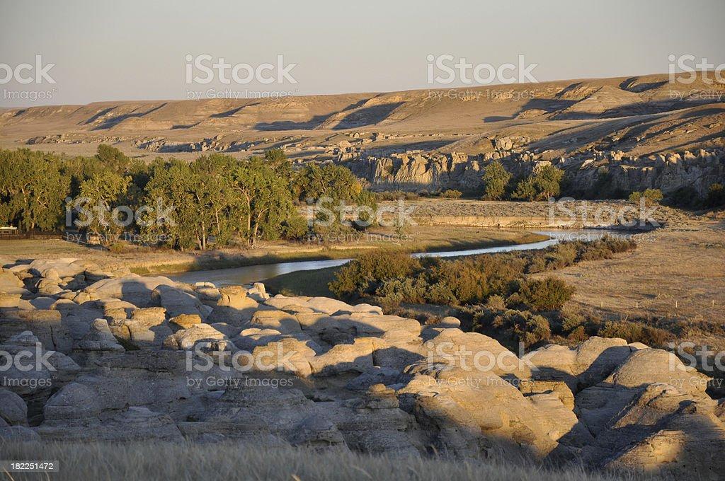 Milk River Canyon stock photo
