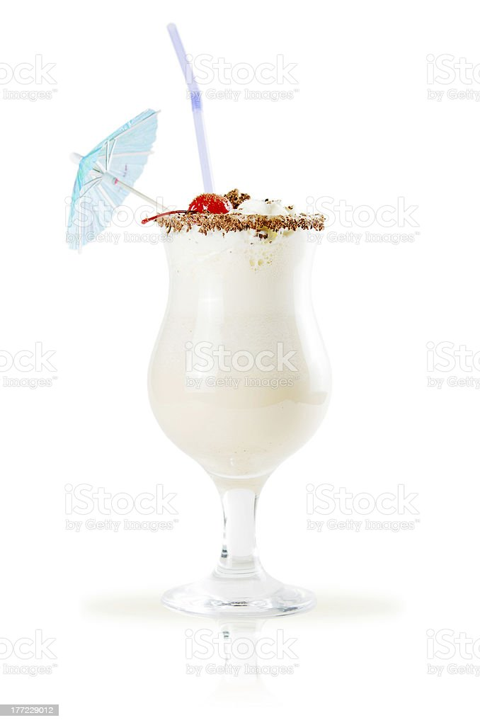 milk shake isolated on white background stock photo