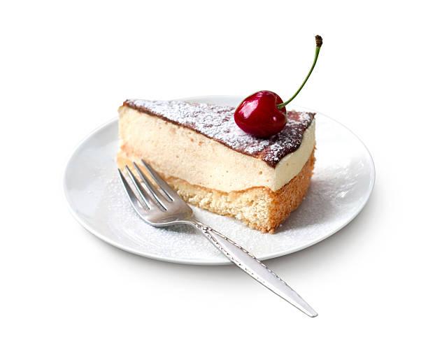 молоко суфле (bird's молоко) торт - кусок торта стоковые фото и изображения