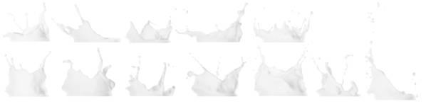 Milk splash isolated on white background Milk splash isolated on white background. Collection, set milk stock pictures, royalty-free photos & images