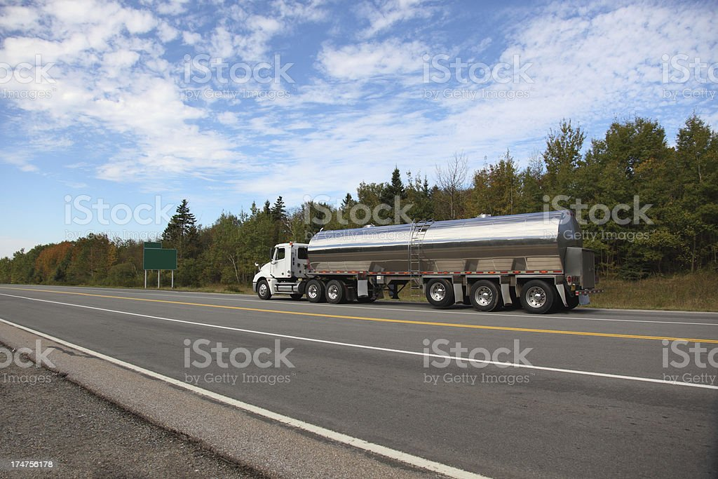 Milk tanker truck royalty-free stock photo
