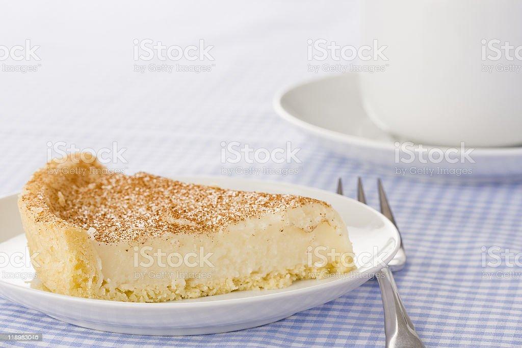 Milk Tart stock photo