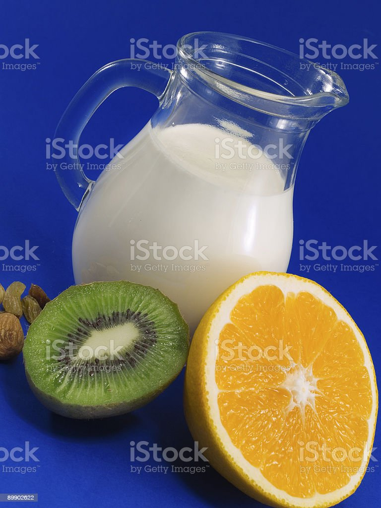 Milk with Fruits royalty-free stock photo