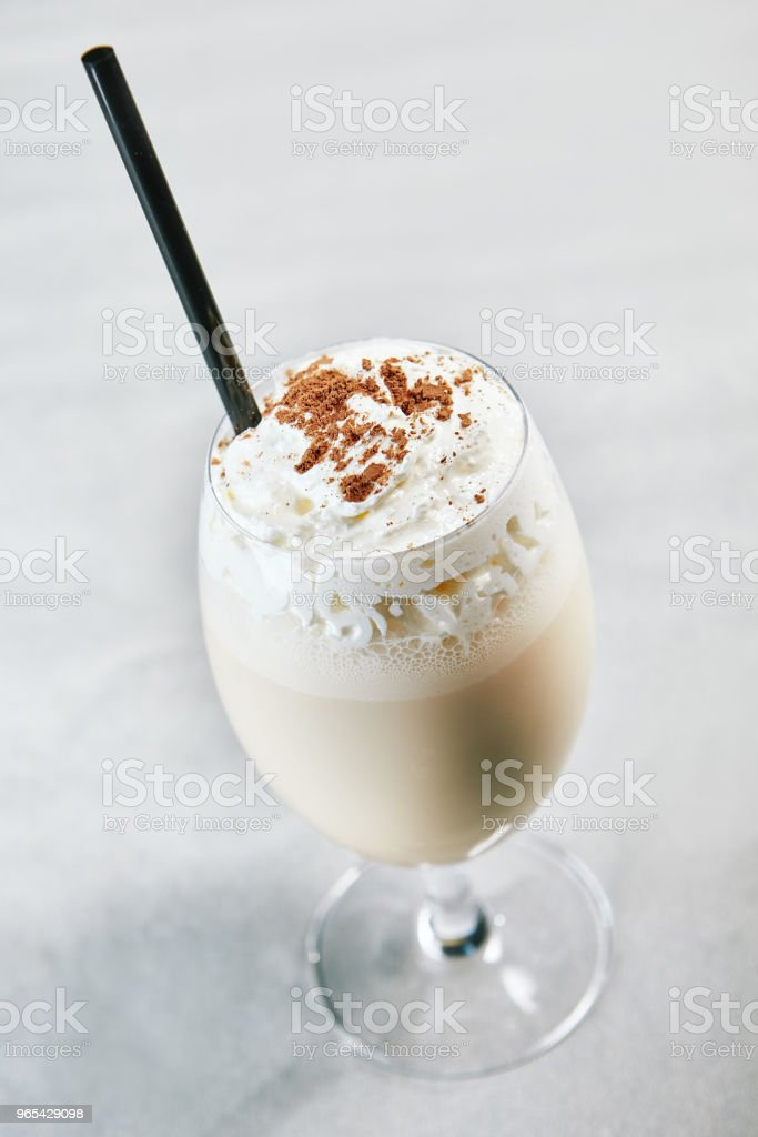 Milkshake on Gray Background royalty-free stock photo