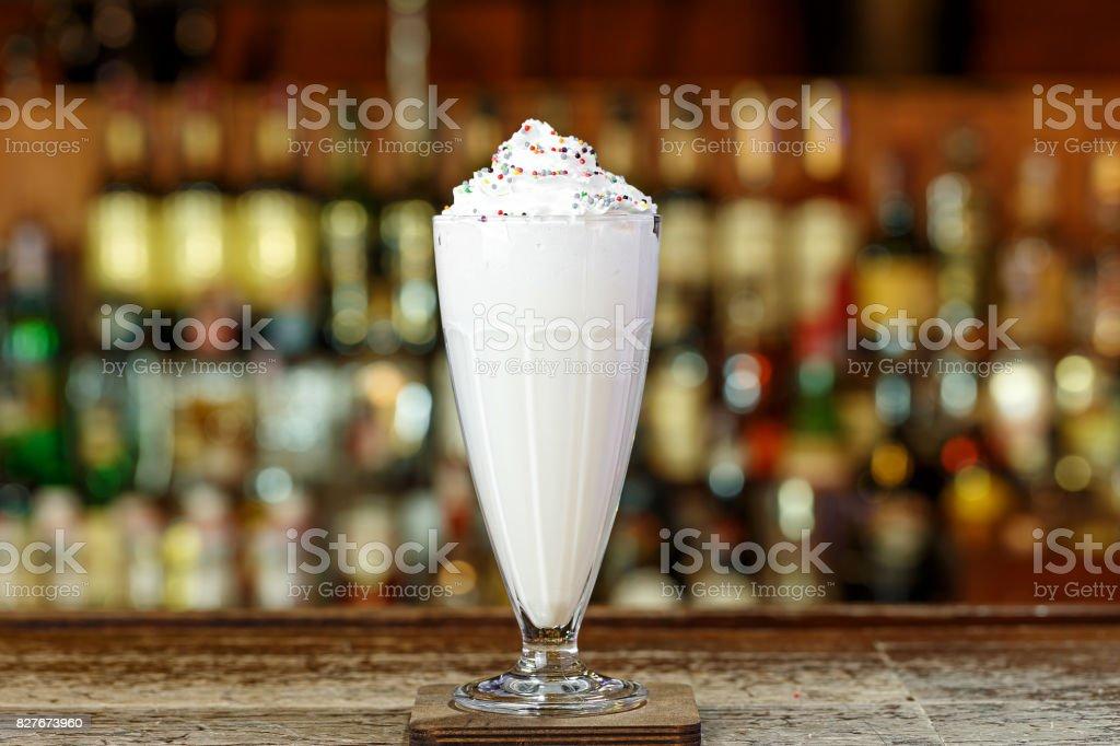 lait fouetté à la crème photo libre de droits