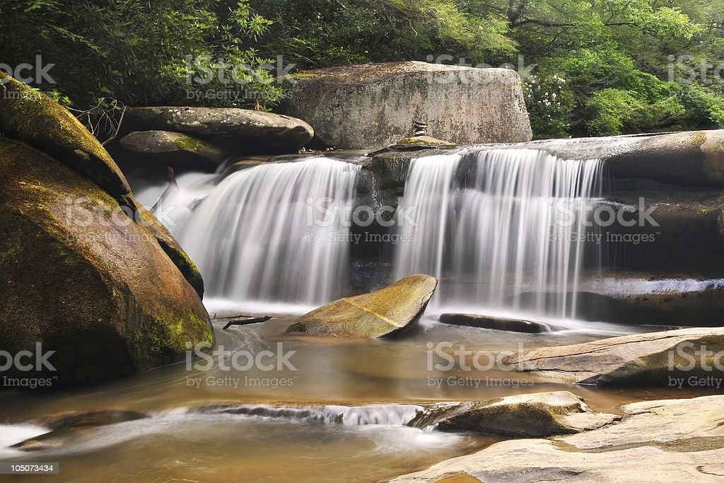 Milky Waterfall Geometry royalty-free stock photo