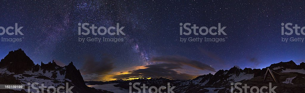 Milky way 360 stock photo