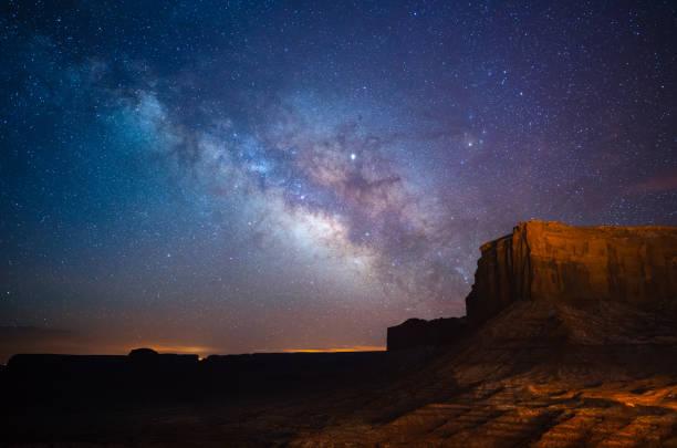 Milchstraße über Monument Valley, Utah, USA – Foto