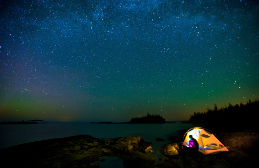 Milky Way And Bruce Peninsula Stock Photo - Download Image Now