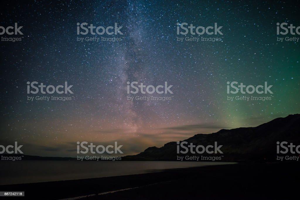 銀河與北極光圖像檔