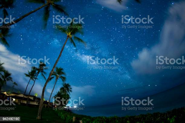 Photo of Milky Way and planet Jupiter over the Pacific Ocean