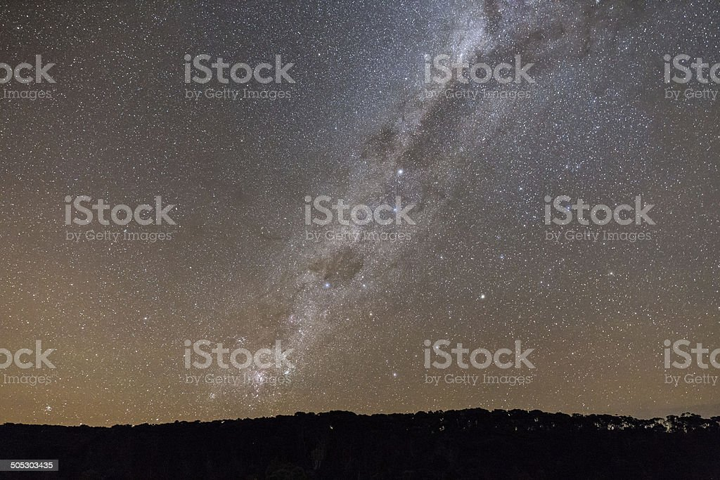 Milky Way and the Southern Cross stock photo