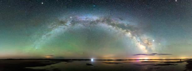 Milky Way arch stock photo