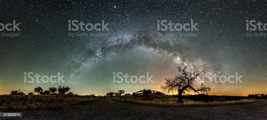 Milchstraße Arm in der Nacht in den Himmel des Alqueva – Foto
