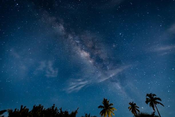 Milky Way at Dawn stock photo