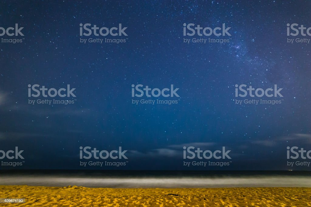 Milky Way at Narrabeen Beach stock photo