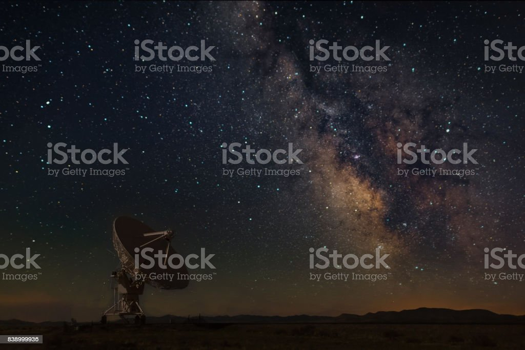 Milky Way at New Mexico. stock photo