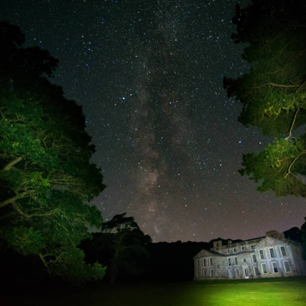 Milky Way at Old Mansion House stock photo