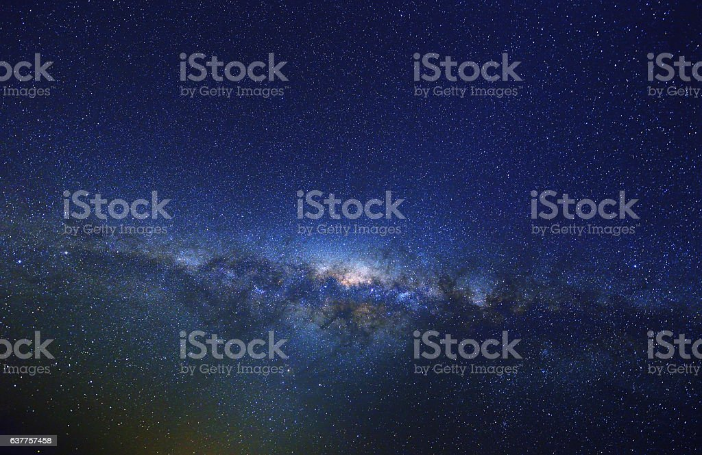 Milky Way at Spring, Australia stock photo
