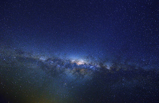 milky way at spring, australia - outer space stock photos and pictures