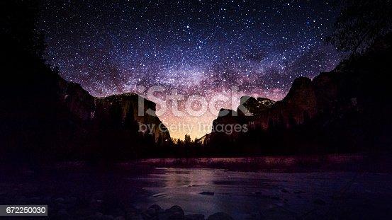 Milky Way at Valley View, Yosemite National Park, California