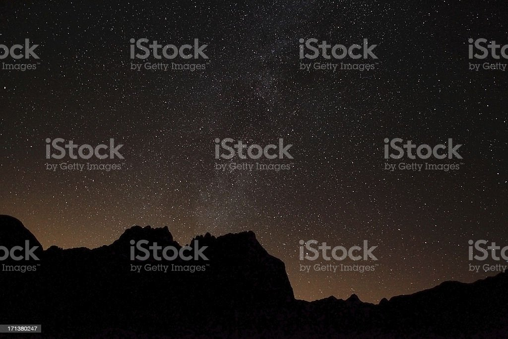 Milky Way behind Belledonne Mountains royalty-free stock photo