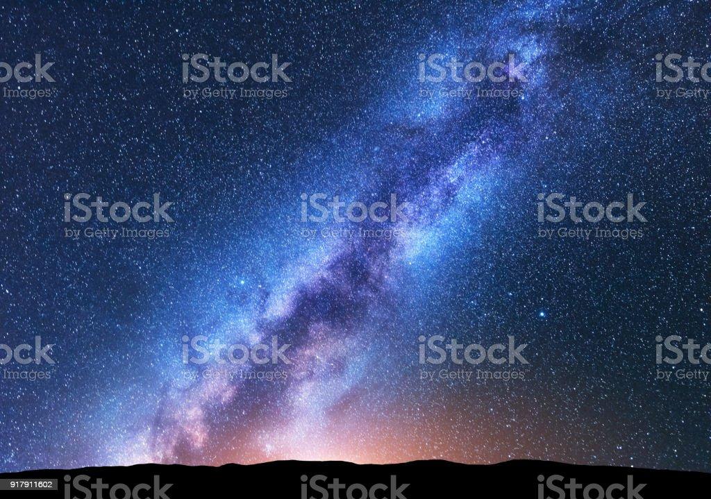 Photo Libre De Droit De Voie Lactée Paysage De Nuit