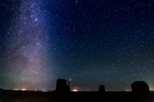 483422527 istock photo Milky Way galaxy above secluded Grand Canyon night sky - stars landscape at night, USA 1203260403