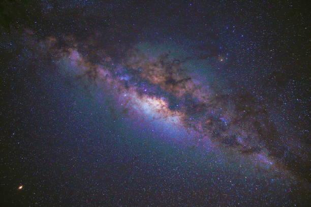 milchstraße über einsame peruanische anden - sterne landschaft bei nacht, peru - sternhaufen stock-fotos und bilder