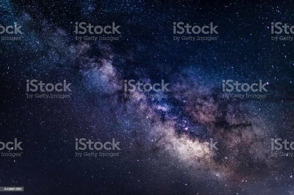 Milky Way Galaxy background - stock image stock photo
